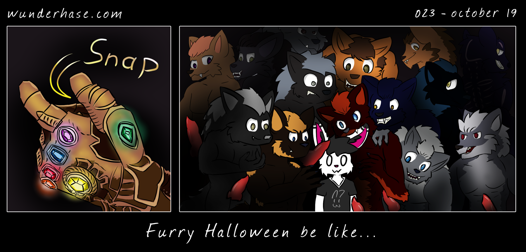 Sound: Snap Caption: Furry Halloween be like...